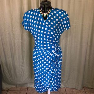 80s Vintage polkadot dress